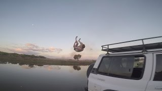 "Flips, Roof surfing a JEEP & Diving into shallow water, what else could you possibly need to have some FUN?Add me on Snapchat @ ""ItsAllyLaw""Follow me on my other Social media channels:https://www.Instagram.com/MrAllyLawhttps://www.Facebook.com/AllyALawhttps://www.Twitter.com/AllyALawFilmed with the GoPro hero 5: http://amzn.to/2hVbEu"