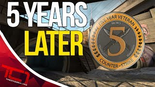 """5 YEARS LATER -  CS:GO. Today we talk about playing counter strike for 5 years now. The other week i got my 5 year veteran coin and it made me really think about my time playing cs:go and counter strike source.Best Place to buy cheap csgo skins is   https://www.rpgah.com/, Use code""""JOB""""get a 3% discount!GIVEAWAY - https://gleam.io/LXWRt/win-awp-hyperbeast-ft★ Patreon - https://goo.gl/cZcV7R★ 2nd Channel - https://goo.gl/RyvCmn★Snacphat - TheChosen1inc★Instagram - https://goo.gl/cv1hvL★Twitch - http://goo.gl/kRBgH2★Twitter - https://goo.gl/xUmcOE★Steam Group - http://goo.gl/Radyih (Join For Updates)★Intro Song - https://goo.gl/L8qshP★Outro Song - https://goo.gl/sPD2Q1★Config - http://goo.gl/vCXbiKThechosen1inc is a cs go channel focused on talking about everything cs go. The focus is bringing you the latest cs go news and also opinions on the latest things going on in the counter strike global offensive community. Feel free to subscribe if your interested in counter strike global offensive content and the opinions of an angry man.Johnny BumbleFuck Is Always Watching ༼◕_◕༽Contact Email - Schonewise@gmail.com"""