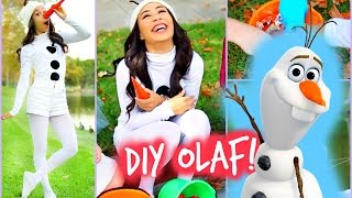 DIY Olaf - Frozen Halloween Costume! Easy and Affordable! - YouTube
