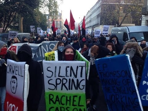 students - Students in the UK are protesting in their thousands against police violence, defying authorities to march through London University and along the city's str...