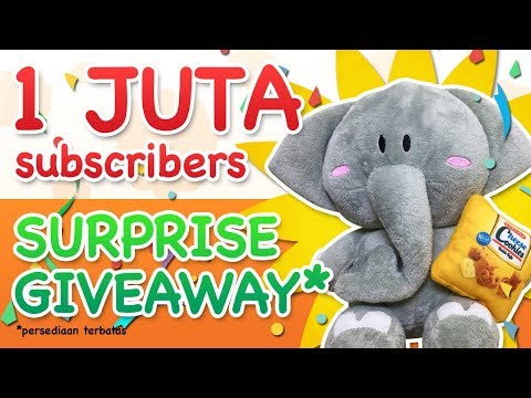 1 juta subscribers giveaway surprise
