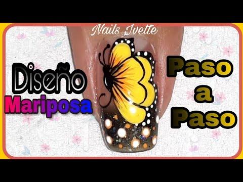Videos de uñas - Diseño de uñas Mariposa