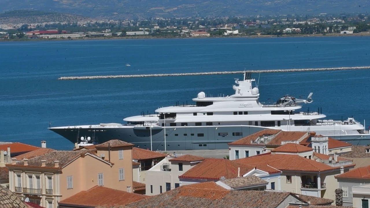 """Ο Eμίρης του Ντουμπάι στο Ναύπλιο με το σούπερ yacht """"Radiant"""" αξίας 280.000.000 ευρώ"""