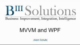 MVVM and WPF