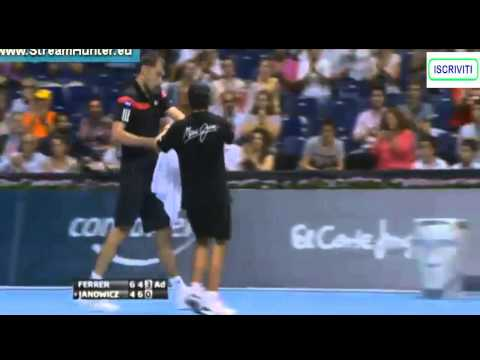 amazing point- David Ferrer vs Jerzy Janowicz ATP Valencia open 2013 QF