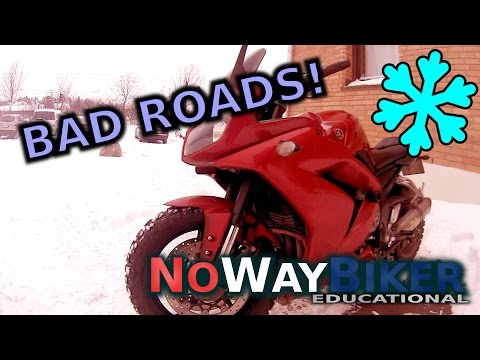 Motorcycle Winter & Snow Riding: Top 5 Worst Conditions (Yamaha FZ1)