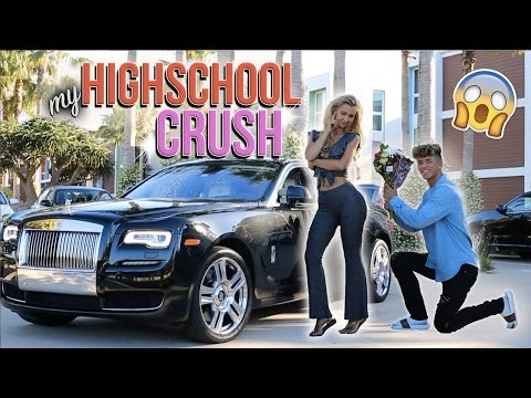 PICKING UP MY HIGH SCHOOL CRUSH IN A ROLLS ROYCE! (AMAZING REACTION) (видео)