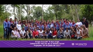Celebración de la familia scout del grupo N° 9 San Jorge.