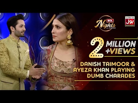 Danish Taimoor & Ayeza Khan Playing Dumb Charades | Peekachu Segment | BOL Nights with Ahsan Khan