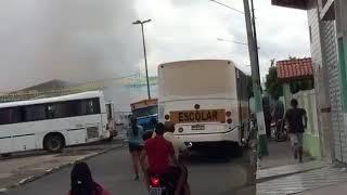 Barracas de fogos explodem em Monte Alegre