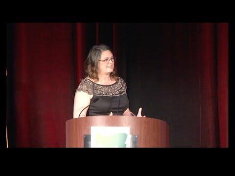 2018 Wayne Morse Gala — State Senator Sara Gelser receives the Wayne Morse Award