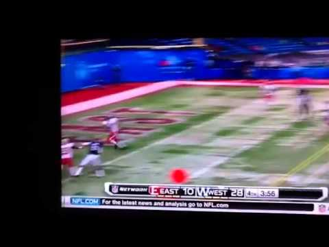 Earl Wolff INT in Shrine Bowl game 2013 video.