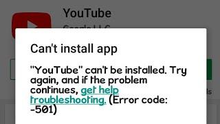 Video Fix Android's  problem of Cant install error 501 MP3, 3GP, MP4, WEBM, AVI, FLV Juni 2019
