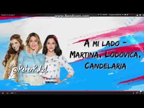 Tekst piosenki Candelaria Molfase Martina Stoessel Lodovica Camello - A mi lado po polsku