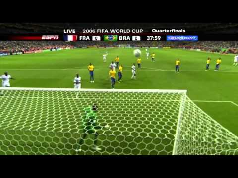 Zinedine Zidane vs Brazil World Cup 2006