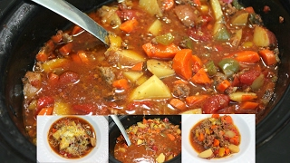 SUBSCRIBE: https://goo.gl/k44ObC How to make an easy slow cooker hamburger stew. Using ground beef, potatoes, carrots, bell peppers, tomatoes and ...