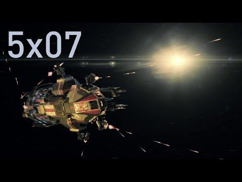 Rocinante vs Zmeya (Space Battle) — The Expanse Season 5 Episode 7