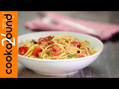 spaghetti con tonno e pomodorini - ricetta