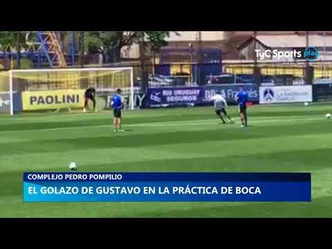 El golazo de Gustavo en la práctica de Boca