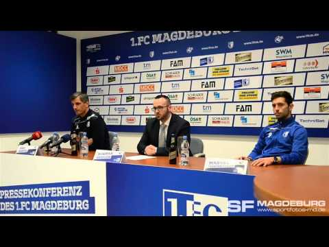 Video: Pressekonferenz vor dem Spiel - 1. FC Magdeburg gegen FC Erzgebirge Aue