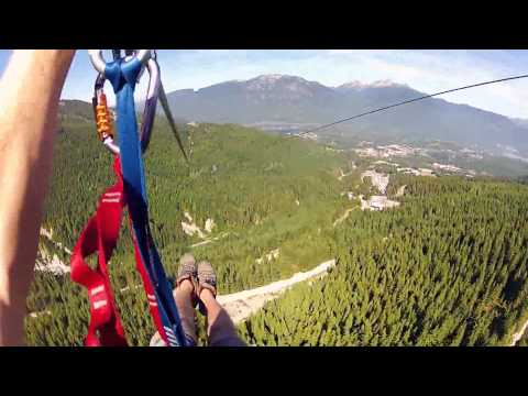 Adrenaline-filled zip line hits speeds over 90mph!