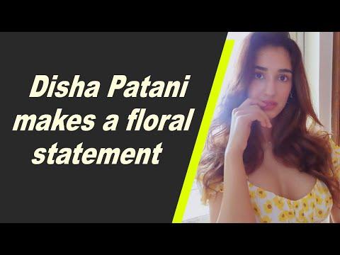 Disha Patani makes a floral statement