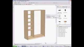 Видеоуроки Pro100. Проектирование шкафа-купе. Часть 2