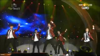 Download Lagu 140123 EXO - Let out the beast + Wolf + Growl + Daesang Award @ Seoul Music Awards 2014 Mp3