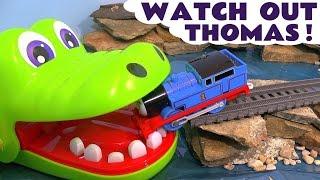 Video Thomas and Friends Toy Trains & Crocodile Surprise Eggs - Kinder Marvel Superheroes Spongebob TT4U MP3, 3GP, MP4, WEBM, AVI, FLV Mei 2017