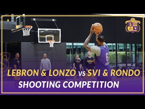 Video: Lakers Practice: LeBron & Lonzo vs Svi & Rondo vs Coach Miles & BShaw Shooting Competition