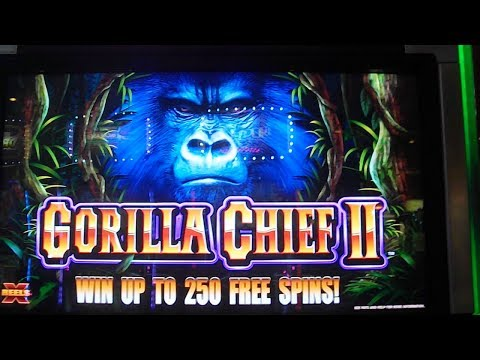 Gorilla Chief II MAX BET BIG WIN Slot Machine Bonus 40 Free Games