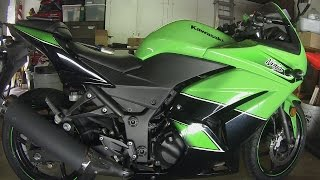 6. How to Replace a Handlebar Weight on a 2011 Ninja 250