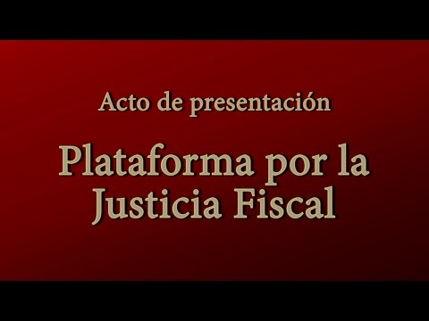 29/03/2017. Plataforma por la Justicia Fiscal