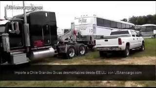 Video Grandes Grúas Desmontables para tracto camión con quinta rueda en Chile con http://USAencargo.com MP3, 3GP, MP4, WEBM, AVI, FLV Juni 2018
