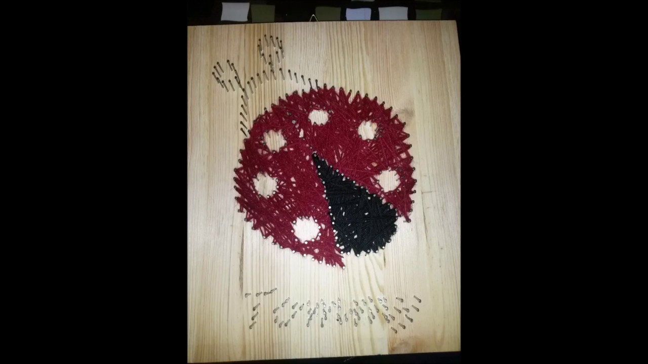 Coccinella string art