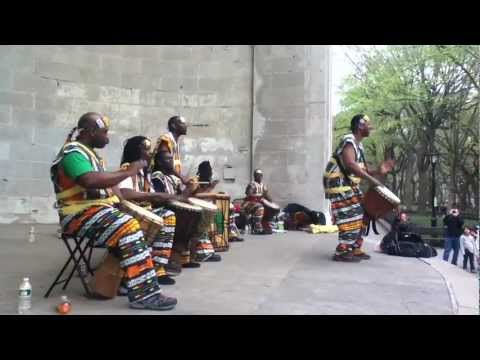 African Drum/Percussion Band from Ivory Coast, Africa