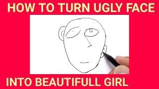Video AJAIB,,,MENGAMBAR WAJAH JELEK INI MENJADI CEWEK CANTIK / how to draw ugly face into beautifull girl MP3, 3GP, MP4, WEBM, AVI, FLV Mei 2018