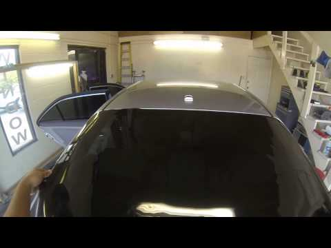 Installing rear window tint on 2008 Lincoln MKZ using go pro 3 black #eclipsetinting