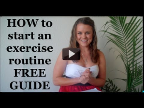 How to START an exercise routine - FREE PDF GUIDE