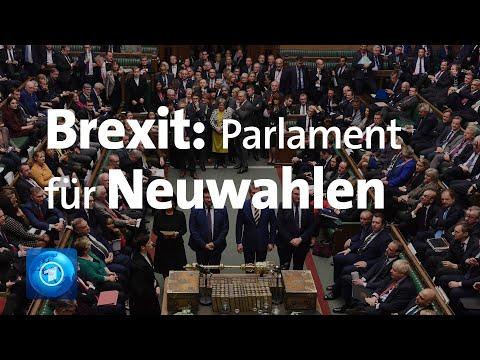 Großbritannien: Das Parlament stimmt Neuwahlen im Deze ...