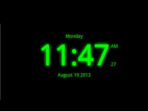 Video of Digital Clock Live Wallpaper-7