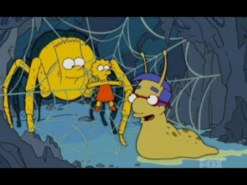 Lisa bewusstlos auf dem Friedhof - Simpsons Clips (S17E2)