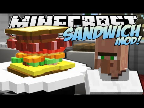 Minecraft | SANDWICH MOD! (The Tallest Sandwich in the World!) | Mod Showcase