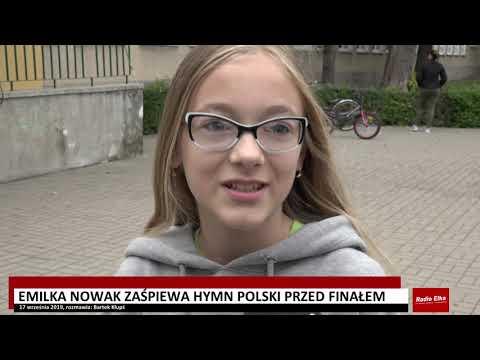 Wideo1: Emilia Nowak zaśpiewa hymn przed finałem