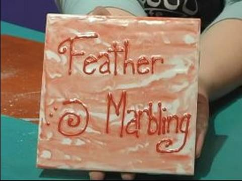 How to Paint Pottery : Creating a Feather Marbling Effect on Pottery