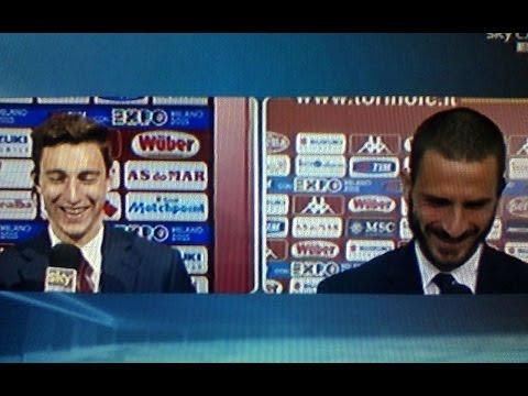 bonucci prende in giro darmian per il suo gol!