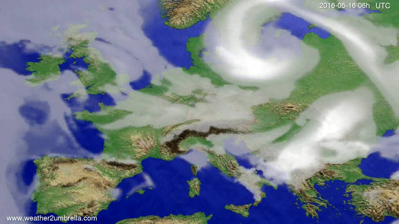 Cloud forecast Europe 2016-05-13