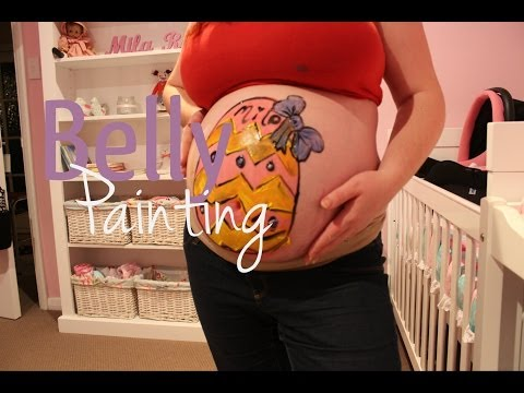 Easter Belly Painting { 33 weeks pregnant }