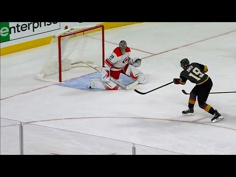 Goal by Golden Knights' Smith brings a smile to the face of coach Gallant