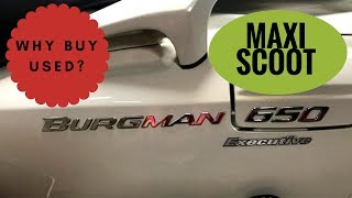 8. MUST SEE BEFORE PURCHASING! Comparing the 2008 and  2012 Suzuki Burgman 650